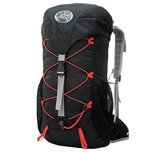 Padgene Outdoor Sport Rucksack 35L Wasserdicht Trekkingrucksäcke Wanderrucksäcke Backpack Reiserucksack (Schwarz) (Dakine Wanderrucksack)
