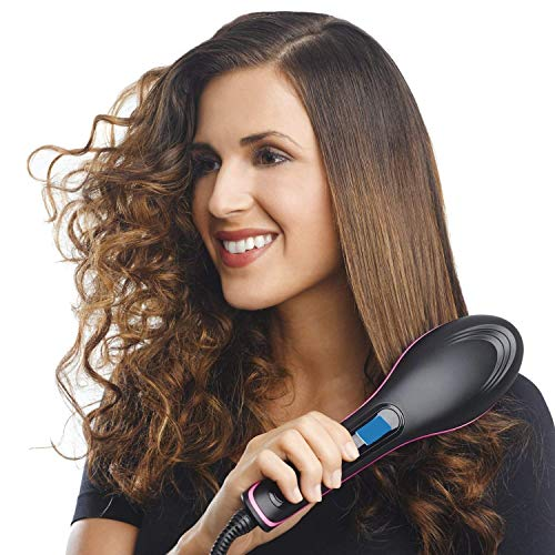 QERINKLE Hair Electric Comb Brush 3 in 1 Ceramic Fast...