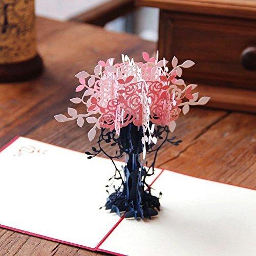 Handgefertigt 3D mit passendem Umschlag, Best Wish Geschenk für Merry Christmas, Jahrestag, Hochzeit, Geburtstag, Baby Dusche, Mütter Väter Tag (Baby-dusche-geschenk-karte)