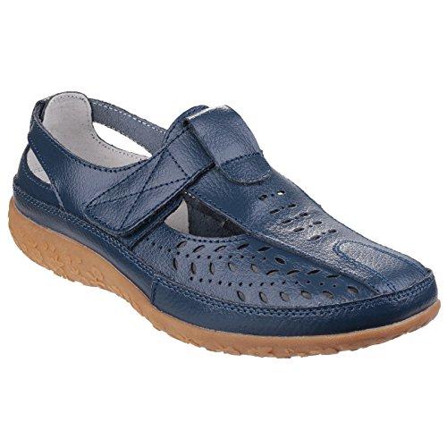 Universal Textiles Damen Pinot Sandale mit Klettverschluss und Lochmuster (41 EU) (Marineblau)