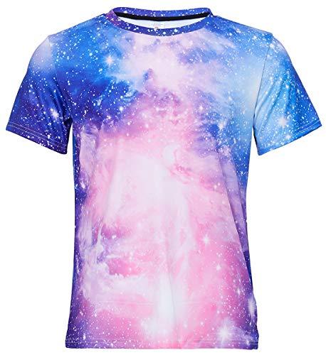 uideazone Männer Frauen Universum Star Galaxie Grafik-T-Shirt - Shirt Grafik