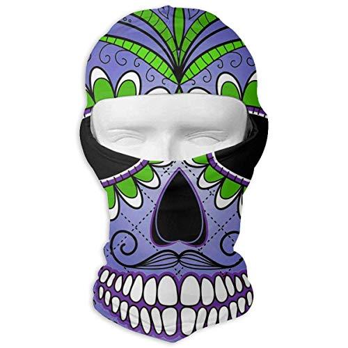 ferfgrg Day The Dead Sugar Skull Winter Tactical Full Face Mask Windproof Balaclava Hood Men Women