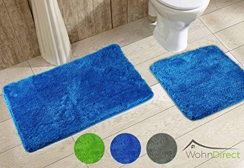 Wohndirect set tappeti bagno 2 pezzi 45 x 45 50 x 80cm