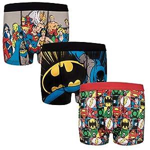 51yZnxpGe5L. SS300  - DC Comics - Pack de 3 calzoncillos oficiales de estilo bóxer - Para niños - Batman, Superman