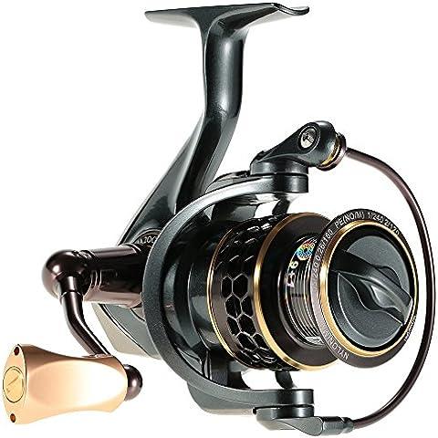 Docooler Bobina di Pesca JA2000 9 + 1SS Mano Mosca di BaitCasting Gear Ratio 5.2: 1