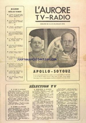 AURORE TV RADIO (L') du 14/07/1975 -...