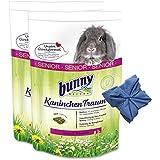 2 x 4 kg Bunny Kaninchen Traum Senior Futter für Zwergkaninchen + Microfasertuch