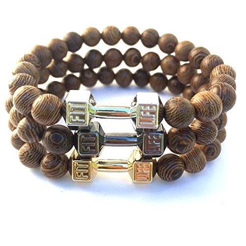 good-designs-fitness-perlas-de-pulsera-de-madera-pesas-colgante-de-oro-en-negro-plata-plata-16-20-cm