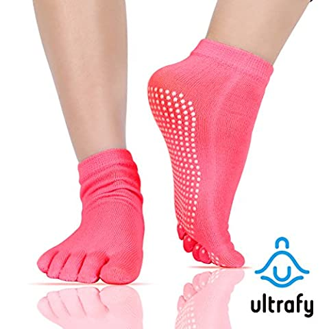 ULTRAFY Yoga Socks, Pure Combed Cotton, Non-Slip, Elastic, Breathable, Shrink-Resistant,