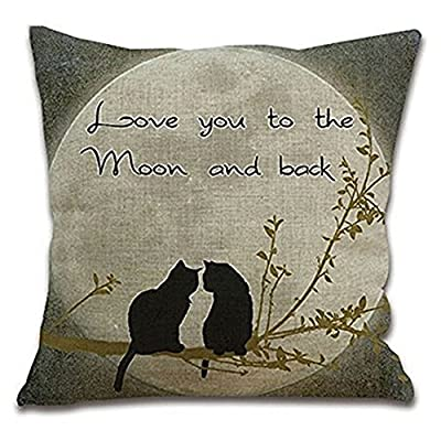 Bluelans® Home Decor Cotton Linen Cushion Cover Throw Pillow Case Square 17 X 17""