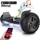 GeekMe Gyropode 8.5 Pouces Scooter Electrique Tout Terrain Scooter Auto-équilibré Electrique avec Moteur Puissant LEDs Bluetooth APP pour Adultes et Enfants