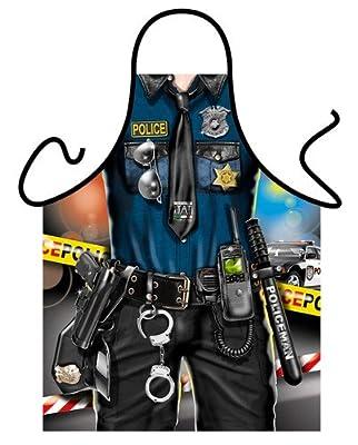 Schürze POLICE MAN Polizist Polizei Grillschürze Kochschürze NEU * 37279