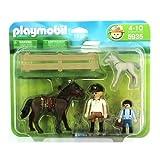 51yZq8qL2RL. SL160  BEST BUY UK #1Pony Ranch 5935: Horse + Foal   Playmobil