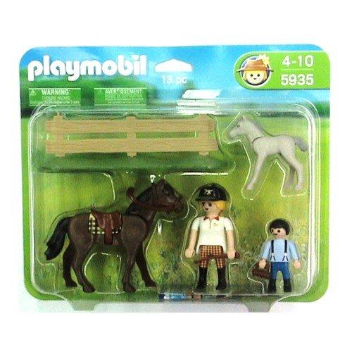 51yZq8qL2RL BEST BUY UK #1Pony Ranch 5935: Horse + Foal   Playmobil