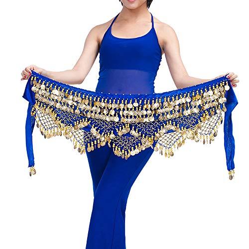 Tanz Übergröße Bauch Kostüm - Lonshell Gold Münze Hüfttuch Münzgürtel Bauchtanz Kostüm Hüfttuch Taille Gürtel Kurz Minirock Wickelbund Strandtuch Hüft-Tuch für Bauch Tanz