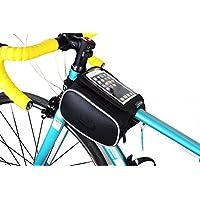 Lohai Ciclismo | ROSWHEEL borsa telaio bicicletta, borsa tubo orizzontale, bici tubo Top supporto del sacchetto del telefono per Iphone 6s, Samsung Galaxy Note 4/3/2, LG G3 / G2 / G1, Sony Xperia Z3 / Z2 / Z1, HTC uno e l'altro di telefonia mobile fino a 5.7 ??pollici - L, 5.2 ~ 5.7