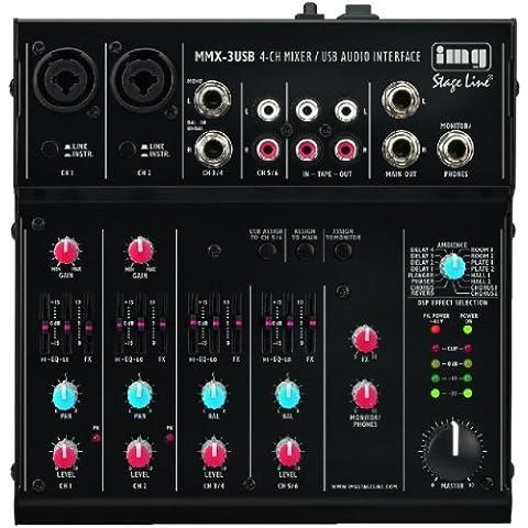IMG Stage Line 20.2750 - Mini mixer professionale a 4 canali audio - 4 Canali Mini Mixer