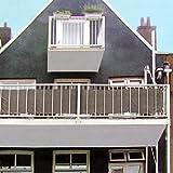 Multistore 2002 Lagerräumung Sichtschutz 445x76cm für Balkon Zaun Geländer, Polyester in Braun/Beige, Blickschutz Windschutz Sonnenschutz Trennwand