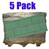 5er Pack Dachschindeln Rechteck Grün 5x 3 m² = 15 m²