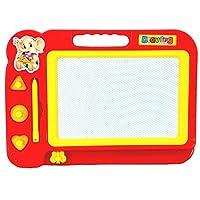 LMMVP Educational Toy Kids Doodle Erasable Magnetic Drawing Board + Pen Set Kids Gift (Red, 11.4X17.2cm)