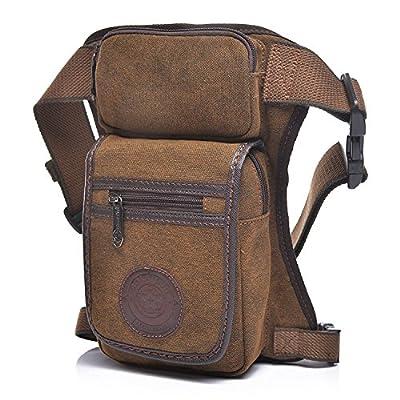 Outreo Sac Banane Homme Sac de Jambe Sac de Voyage Sac de Taille Outdoor Waist Bag Sport Sac Bourse Vintage Besace Sacoche pour Randonnée