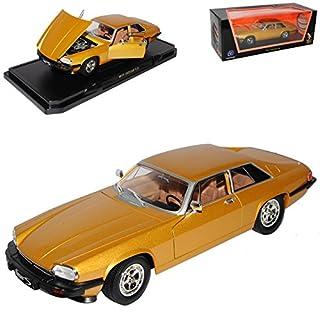 alles-meine.de GmbH Jaguar XJS Coupe Gold Ab 1975 1/18 Yatming Lucky Die Cast Modell Auto mit individiuellem Wunschkennzeichen
