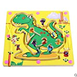 Toy*dfgh  Tablero de Madera MG Puzzle Laberinto Juguete Infantil Puzzle Bola Descompresión Juguete Laberinto magnético 0502 ( Pattern : B )