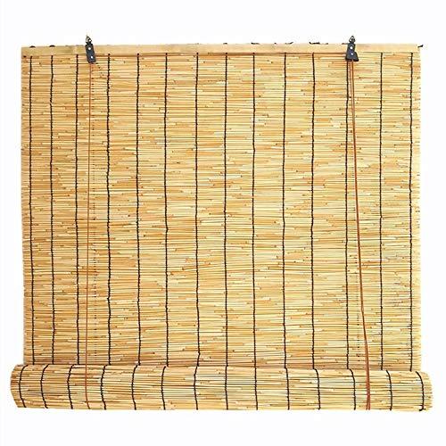 YUANJJ Reed-Rollos, Bambus Vorhang, Staubdicht, Schimmelresistent, Für Innen- / AußEn- / Tür- / Fenstereinbau Geeignet (Größe: 140x180cm)