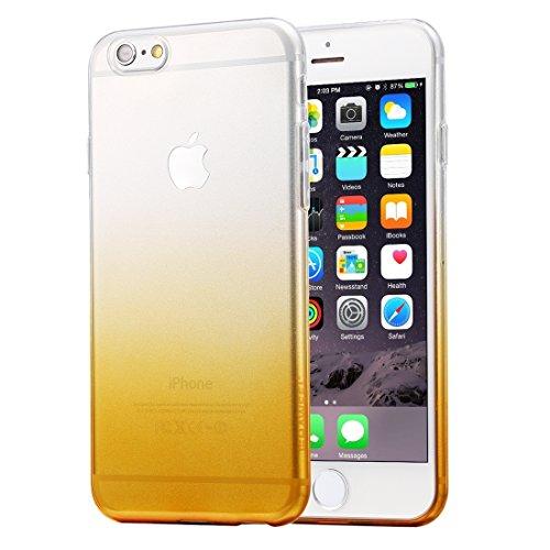 Wkae Case & Cover TPU souple HAWEEL Ultra Slim Gradient Couleur Clear pour iPhone 6 Plus &6s plus ( Color : Pink ) Orange