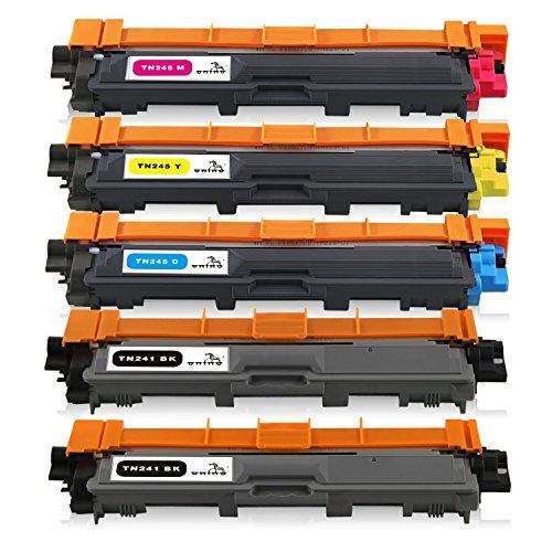 ONINO TN241 TN245 Toner Compatibile con TN241 TN245 HL-3140CW DCP-9020CDW HL-3150CDW DCP-9015CDW HL-3170CDW MFC-9330CDW MFC-9130CW MFC-9340CDW (2 Nero, 1 Ciano, 1 Magenta, 1 Giallo)