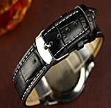 JACKY-Luxury-Fashion-Crocodile-Faux-Leather-Mens-Analog-Watch-Watches-New