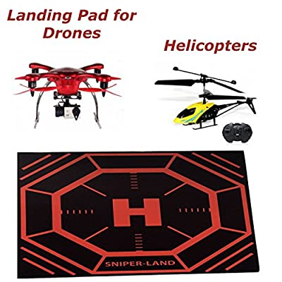 Landing Pad For Drone, Apache Helicopter Toys Quadcopter and Syma Drones With Cameras. The Perfect Flying Drones Accessory. Protect Your Drone and Camera. The Perfect Gift for Any Drone Enthusiast. Take Off and Land Your Drone Anywhere. Money Back Guarant