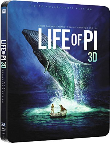 Life of Pi 3D 2014-Includes 2D Version-UK Exclusive Limited Edition Steelbook Blu-ray limited to 3000 prints matt finish - Print Finish