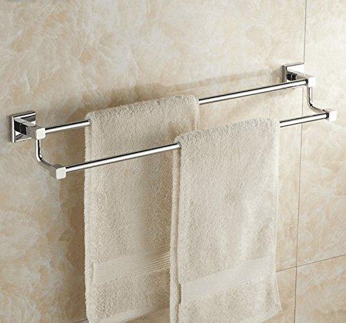 LHbox Tap Kupfer Double Bar Handtuch Rackmount-Server Halterung Badezimmer Handtuchhalter WC Edelstahl Farbe von Punch, Kupfer, 2-polig, gelocht, 60 cm - Bar-server-möbel