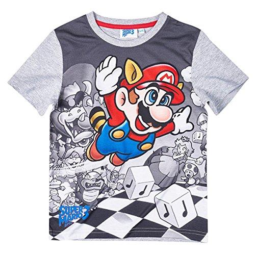Mario Bros - Camiseta de manga corta - Manga corta - para niño gris 6