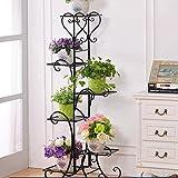 Fer Noir Et Durable Et Solide Fleur Plante Pot Plateau D'affichage Multi-Tier Balcon En Plein Air ( taille : 6tier )