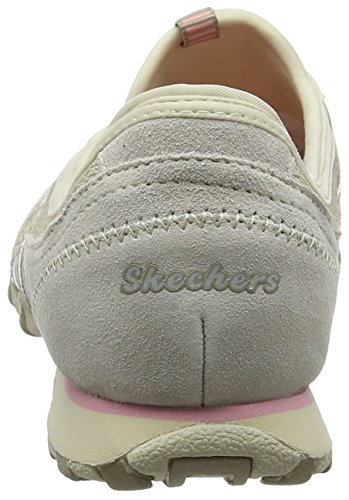 Skechers Bikers - Hot-ticket, Damen Ausbilder, Beige (Natural/taupe), 39.5 EU - 2