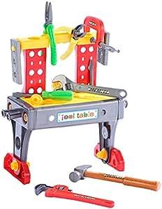 Playtastic Werkzeugkoffer mit Mini-Werkbank, Höhe 36 cm ...