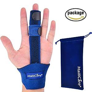 HailiCare Finger Extension Splint for Trigger Finger, Mallet Finger, Finger Knuckle Immobilization, Finger Fractures, Post-operative Care and Pain Relief- Malleable Metallic Hand Splint Finger Support