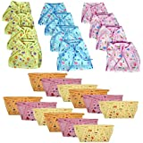 PEUBUD Reusable Cotton And Hosiery Cloth Diaper/Langot/Nappy For New Born Baby (0-6 Months (12 Printed Cotton+12 Hosiery=pack Of 24 Nappy)
