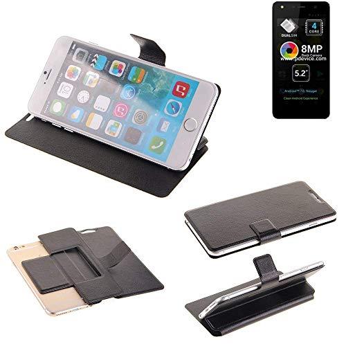 K-S-Trade Schutz Hülle für Allview A9 Lite Schutzhülle Flip Cover Handy Wallet Case Slim Handyhülle bookstyle schwarz