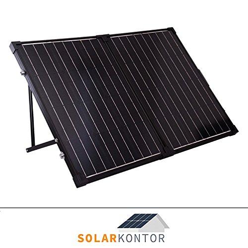 WATTSTUNDE® 100W Solarkoffer MONO WS100SKS Solarmodul faltbar Wohnmobil Batterie