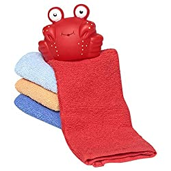 Luvable Friends - Gift Pack of 4 Washcloths & Bath Toys
