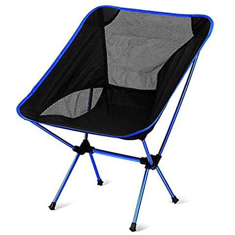 LanLan Portable Foldable Chairs with Carry Bag for Camping Fishing Outdoor Ultralight Back-rest Chairs Dark Blue