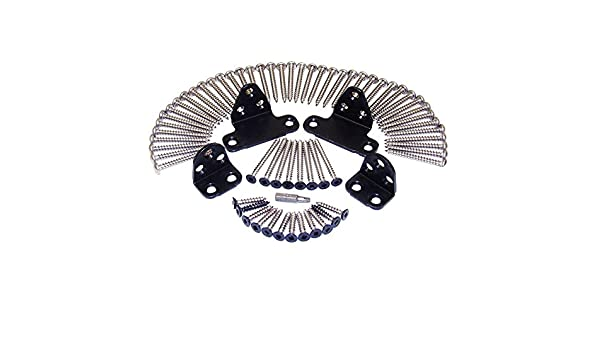 Veranda ArmorGuard Black Stainless Steel Line Rail Hardware Kit