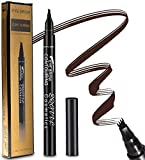 Tattoo Eyebrow Pen with 3 Colors Long-lasting Waterproof Brow Gel and Tint Dye Cream for Eyes Makeup (Brown)