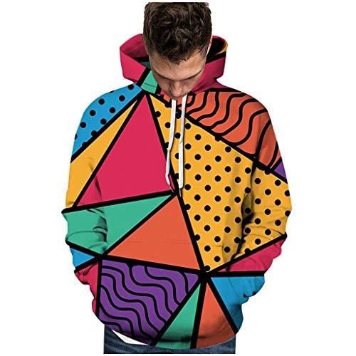 serliyUnisex 3D Druck Hoodie Kapuzenpullover Langarm Sweatshirt Kapuzenjacke mit Taschen Drawstring Taschen Sweatshirt -