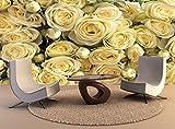 Wandteppiche gelbe Rosen Wall Art Dekor Fototapete Poster Hochwertiger Druck