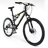 "MUDDYFOX 26"" Livewire Mens BIKE - Bicycle BLACK 21 speed Shimano (Disc Brakes)"