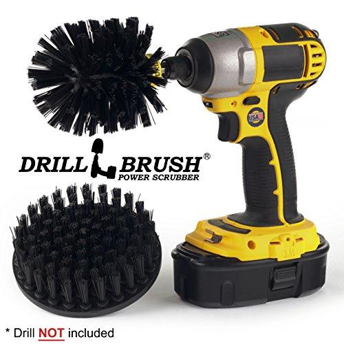 Drillbrush Ultra Stiff Drill Powered Reinigungsbürste Kit Strapazierfähiges ultra-stiff-schwarz